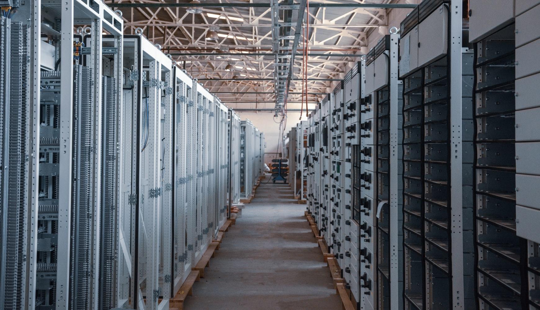 Data Center showing Servers